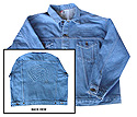 Men's Embossed Denim Eagle Jacket