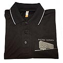 Carmen Black Bamboo Polo Shirt